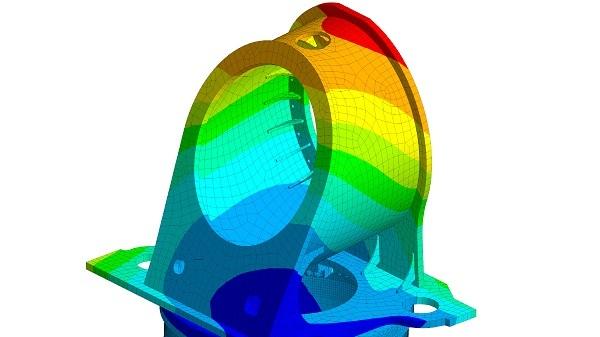 Finte-Elemente-Methode (FEM) - Berechnung und Simulation - Verformungsplot (Ansys)