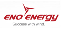 Logo des Windkraftanlagenherstellers eno energy GmbH