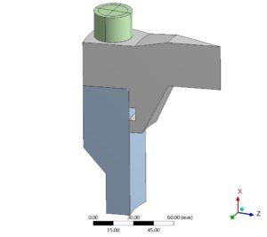 FE-Modell - in Ansys modellierte Geometrie entsprechend VDI 2230 - Beispiel 5