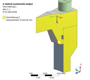 FE-Modell - Randbedingungen an Schnittflächen des Modells definiert-2