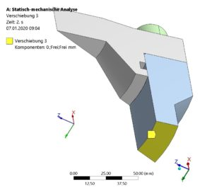 FE-Modell - Randbedingungen an Schnittflächen des Modells definiert-3