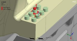 Hydraulisches torsions- und reibungsfreies Anziehverfahren - Umsetzung des Vorspannens im FE-Modell