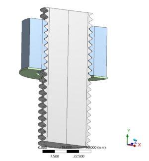 Hydraulisches torsions- und reibungsfreies Anziehverfahren - FE-Modell - Modellierung der Schraube mit Gewinde und gerader Mutter