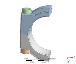 Schraubenverbindung - FE-Modell - Ansicht 1