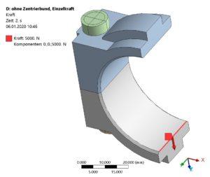 Schraubenverbindung - FE-Modell - Belastung