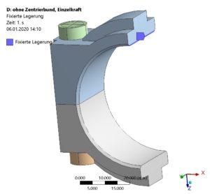 Schraubenverbindung - FE-Modell - Randbedingung 1