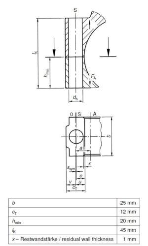 Technische Zeichnung 3 - Schraubenverbindung - VDI 2230 - Beispiel 4