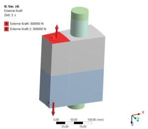 Verspannungsschaubild - Untersuchung zum EInfluss der Umgebungssteifigkeit